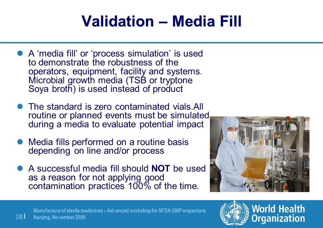 Validation – Media Fill