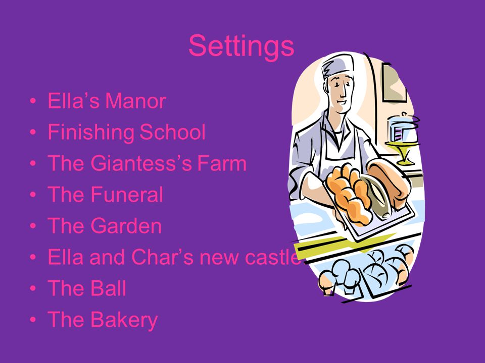 Settings Ella's Manor Finishing School The Giantess's Farm The Funeral