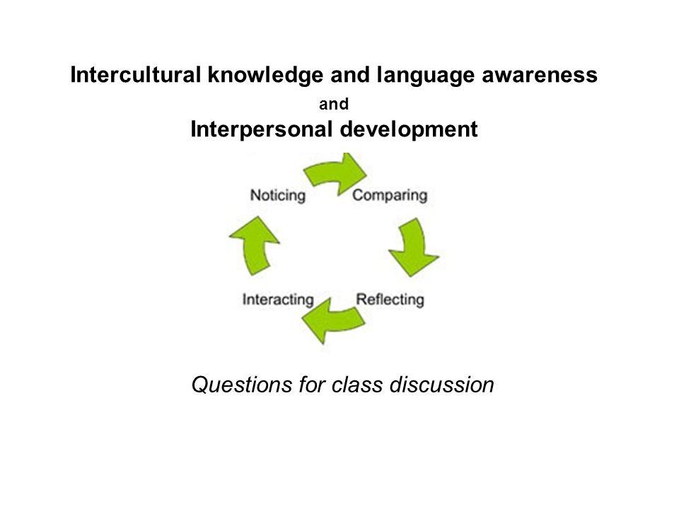 Intercultural knowledge and language awareness