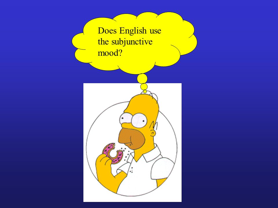 Does English use the subjunctive mood
