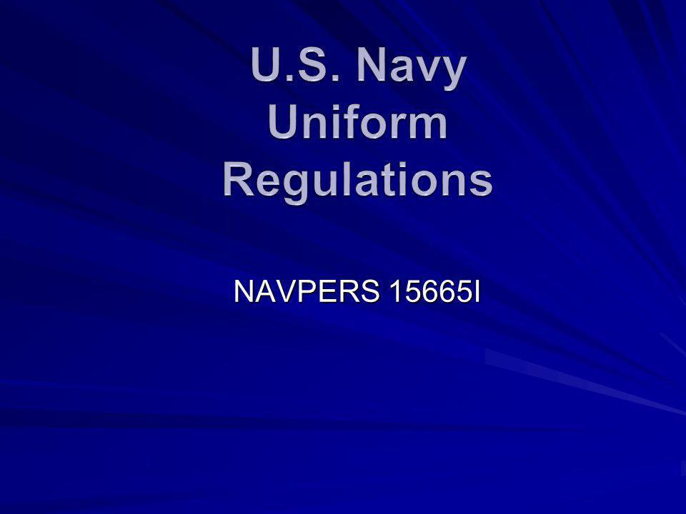 U.S. Navy Uniform Regulations