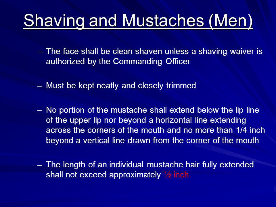 Shaving and Mustaches (Men)