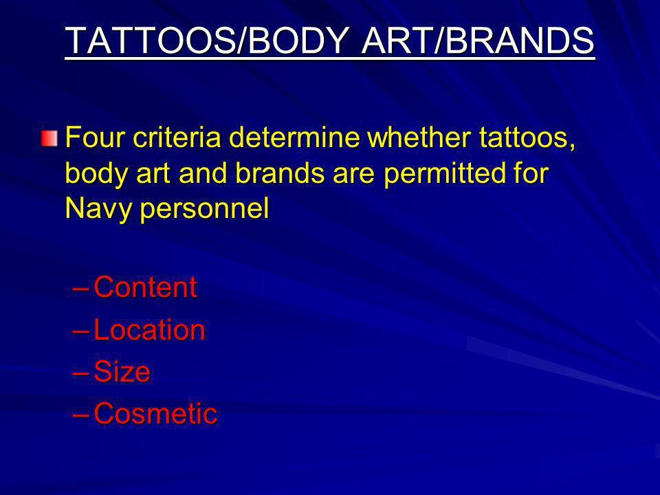 TATTOOS/BODY ART/BRANDS
