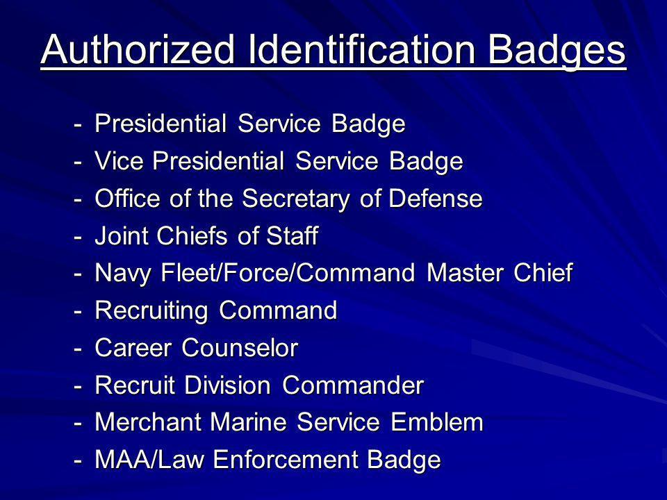 Authorized Identification Badges