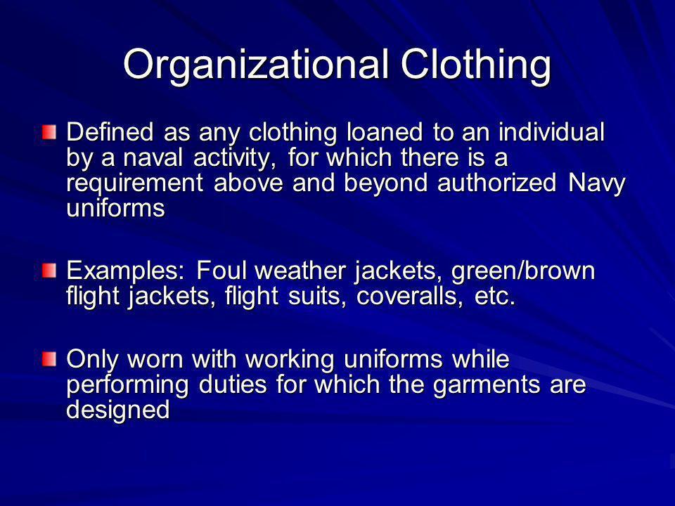 Organizational Clothing