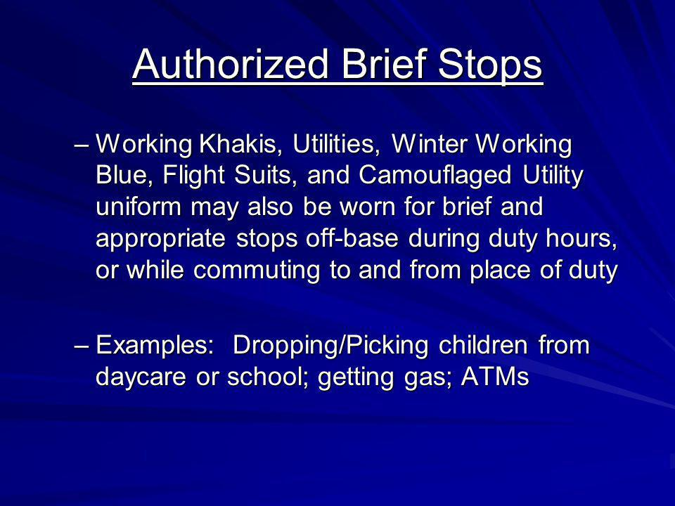 Authorized Brief Stops