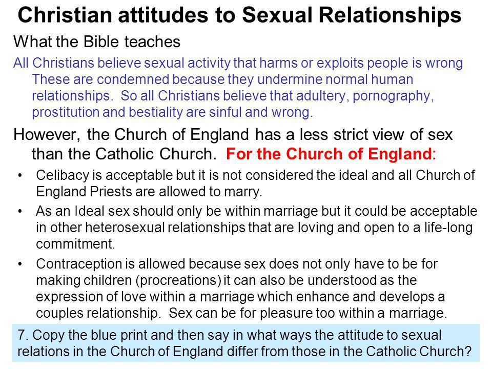 What do catholics say about sex