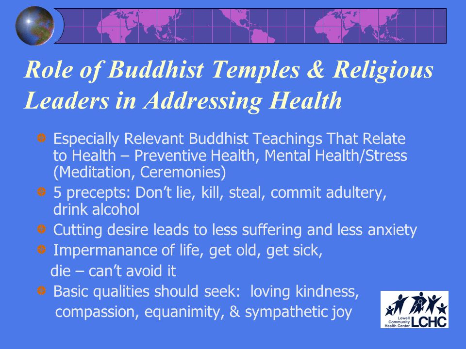 Role of Buddhist Temples & Religious Leaders in Addressing Health