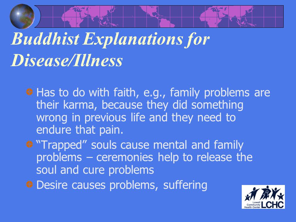 Buddhist Explanations for Disease/Illness