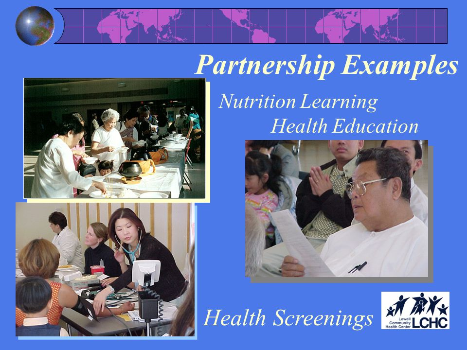 Partnership Examples Health Screenings Nutrition Learning