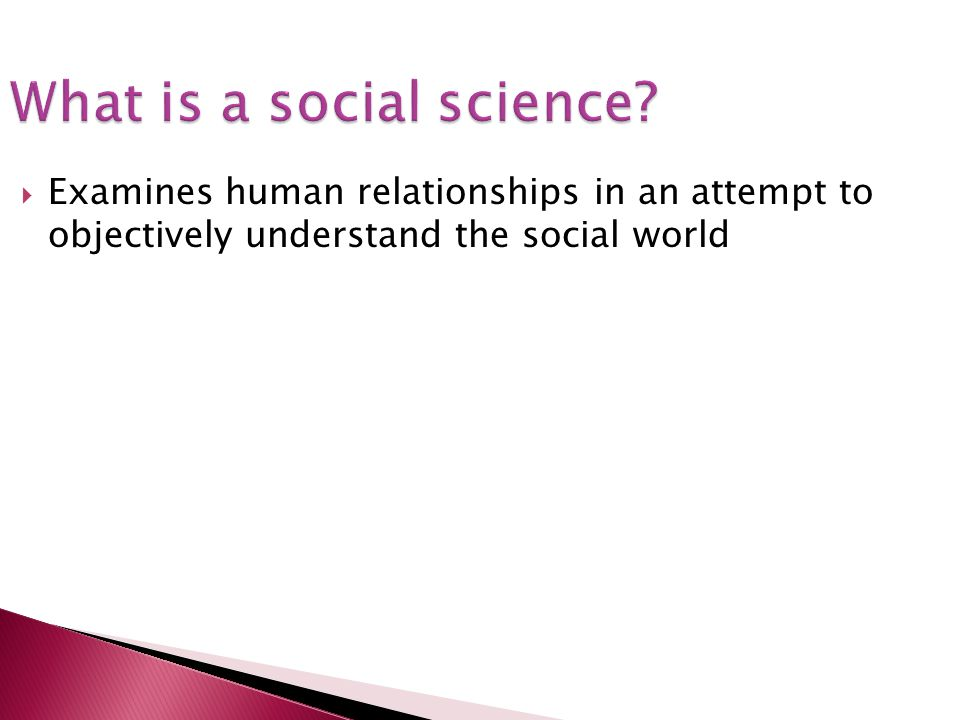 What is a social science