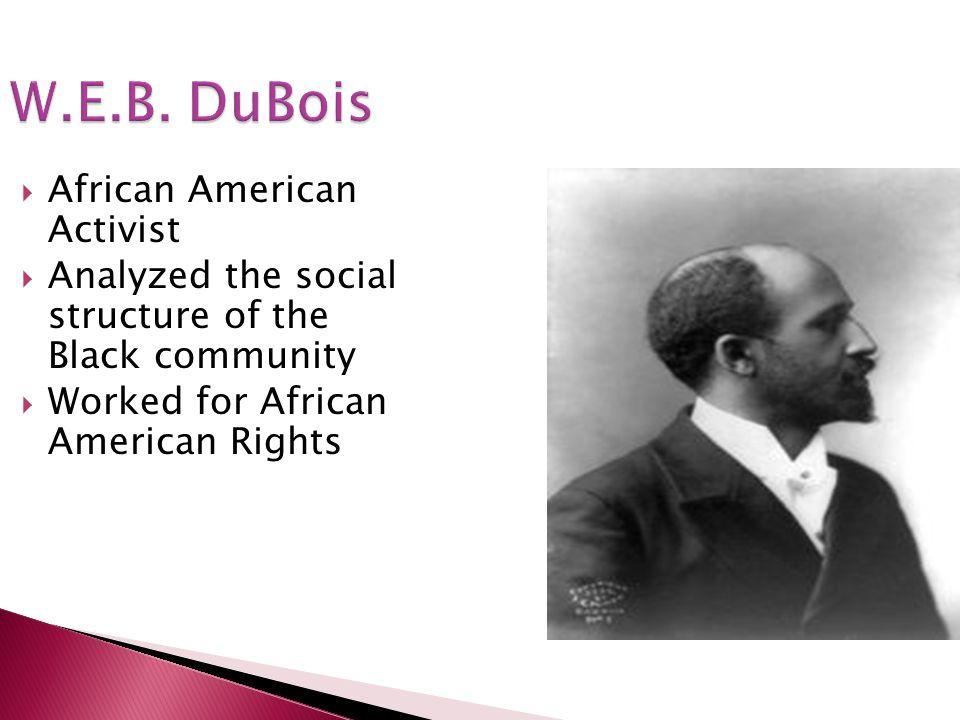 W.E.B. DuBois African American Activist