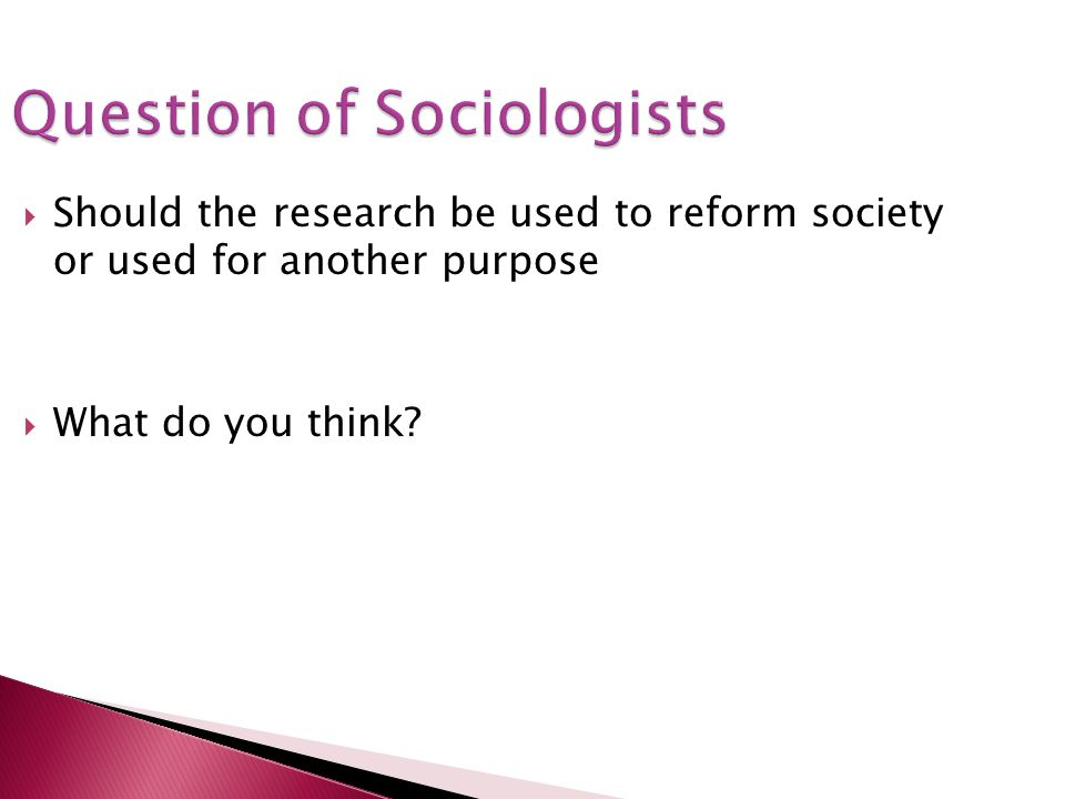 Question of Sociologists