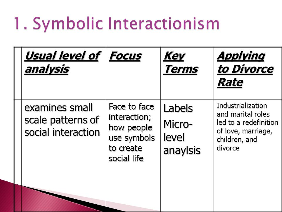 1. Symbolic Interactionism