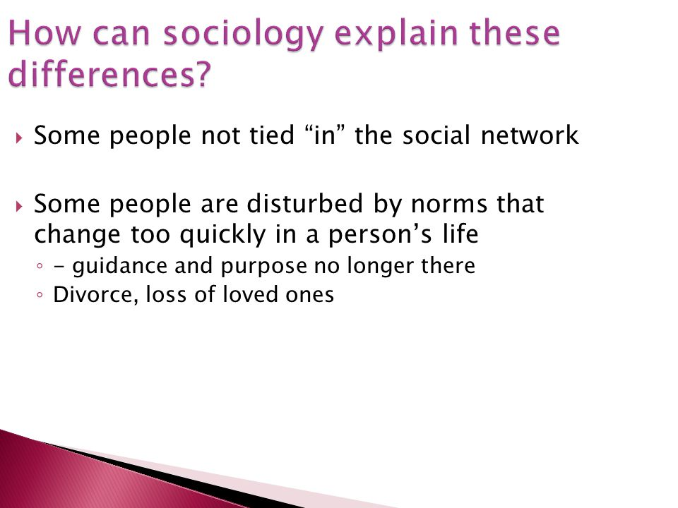 How can sociology explain these differences