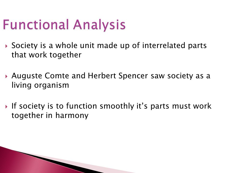 Functional Analysis Society is a whole unit made up of interrelated parts that work together.
