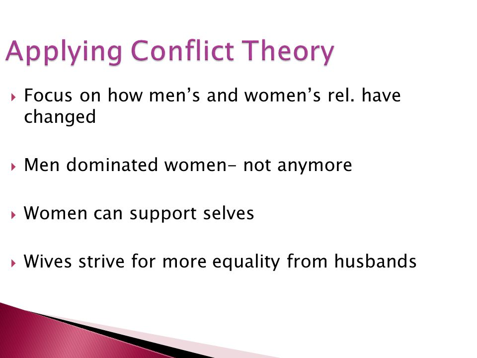 Applying Conflict Theory