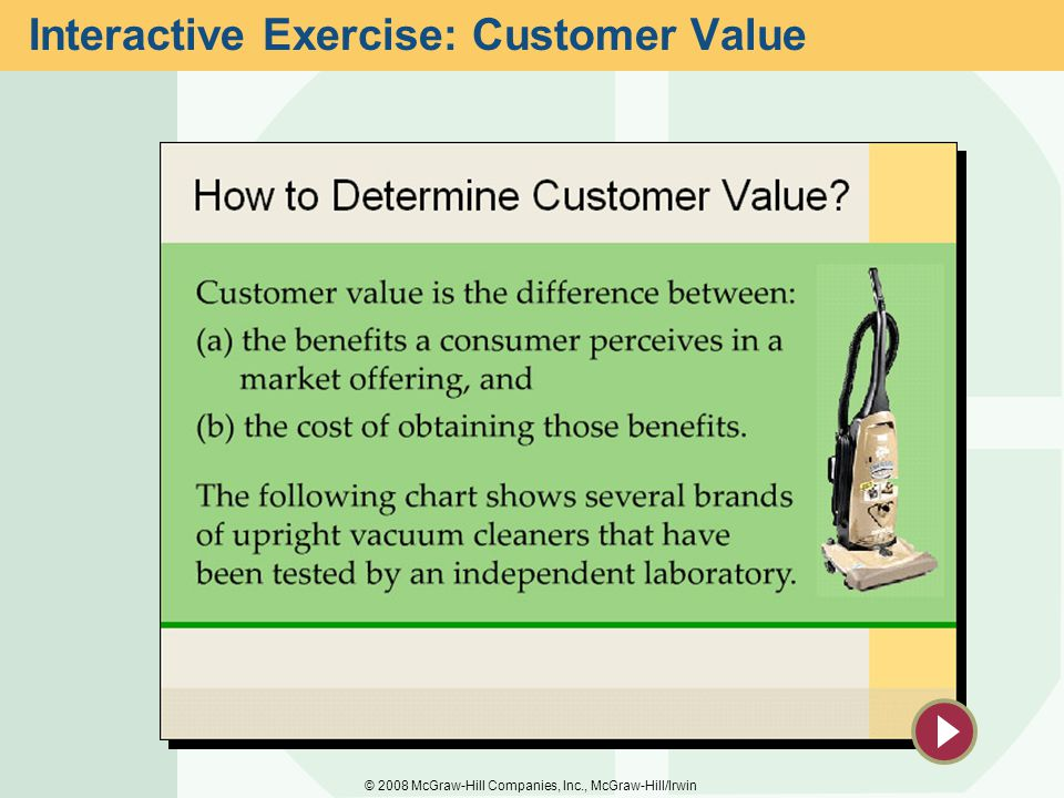 Interactive Exercise: Customer Value