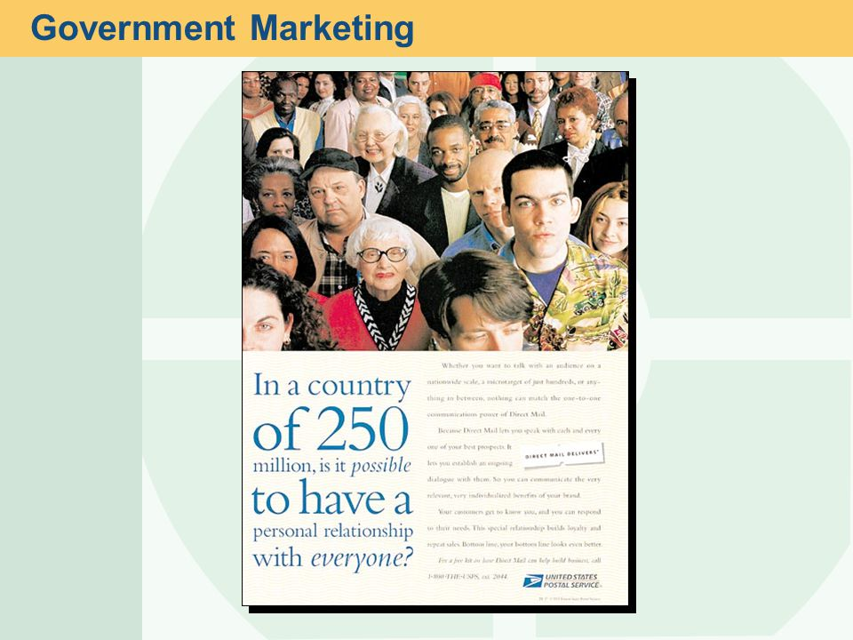 Government Marketing This slide relates to material on pp. 20-21.