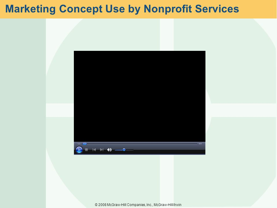 Marketing Concept Use by Nonprofit Services