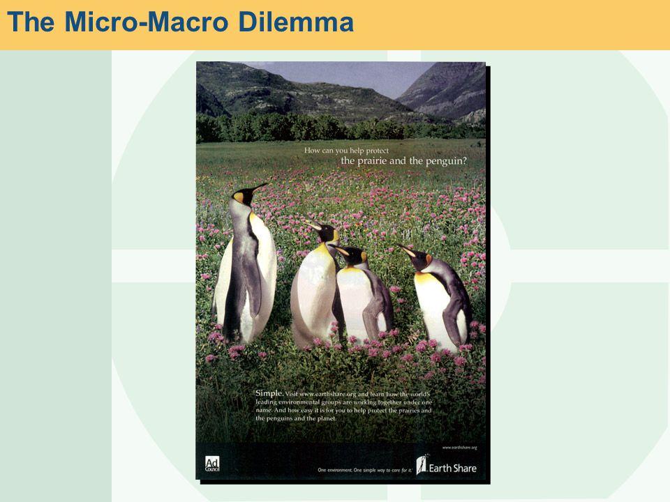 The Micro-Macro Dilemma