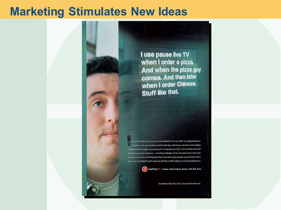 Marketing Stimulates New Ideas