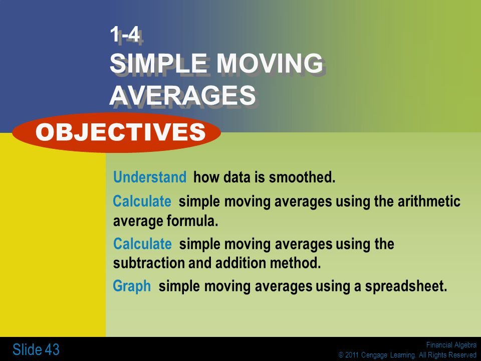 1-4 SIMPLE MOVING AVERAGES