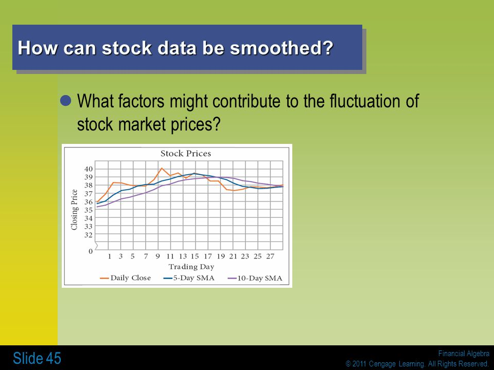 How can stock data be smoothed
