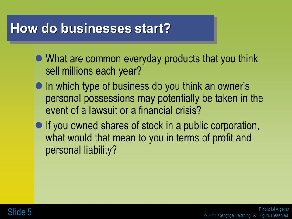How do businesses start