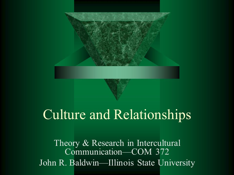 Culture and Relationships