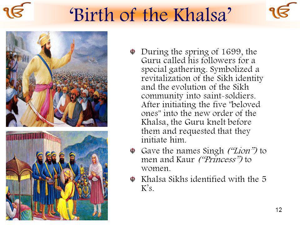 'Birth of the Khalsa'