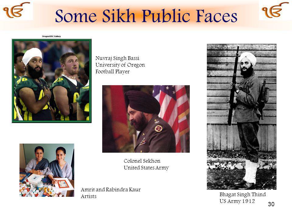 Some Sikh Public Faces Nuvraj Singh Bassi University of Oregon
