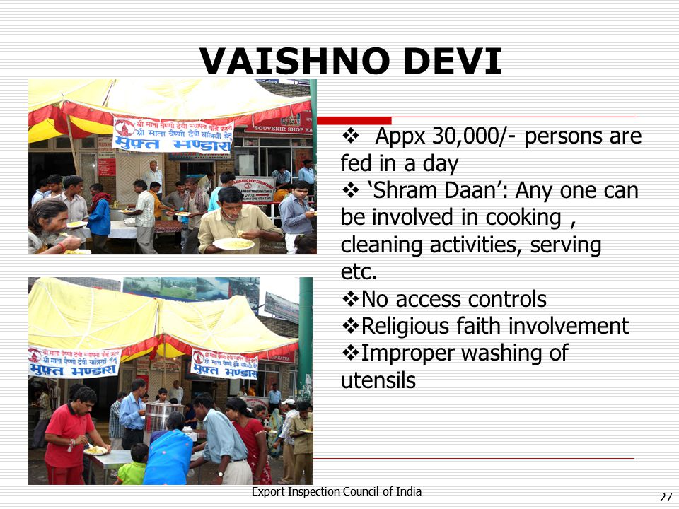 VAISHNO DEVI Appx 30,000/- persons are fed in a day