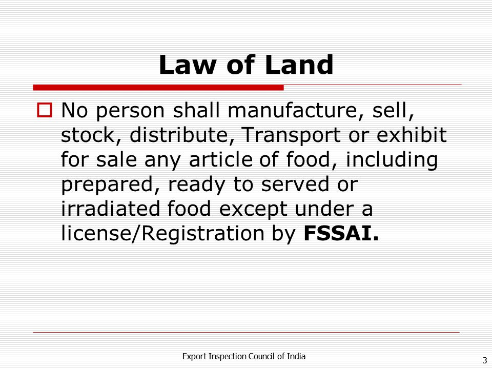 Law of Land