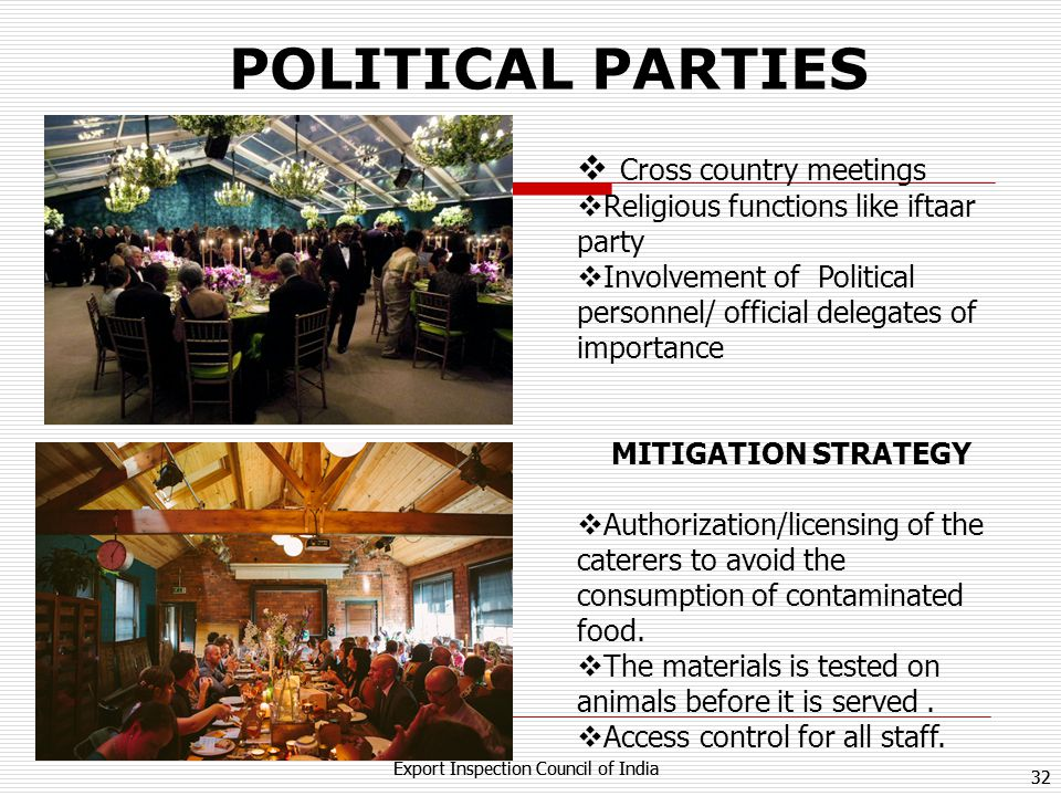 POLITICAL PARTIES Cross country meetings