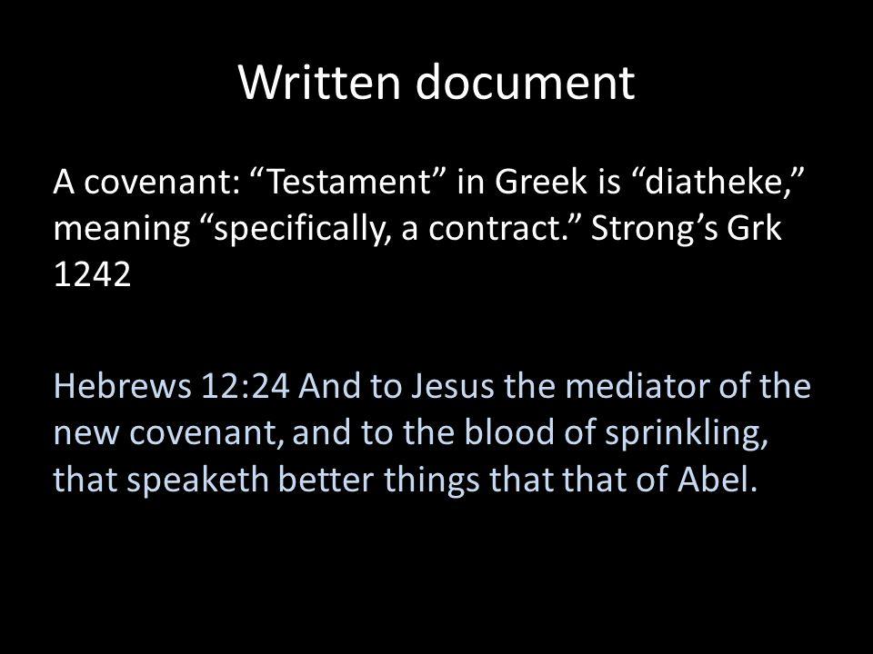 Written document