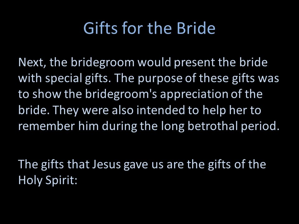 Gifts for the Bride