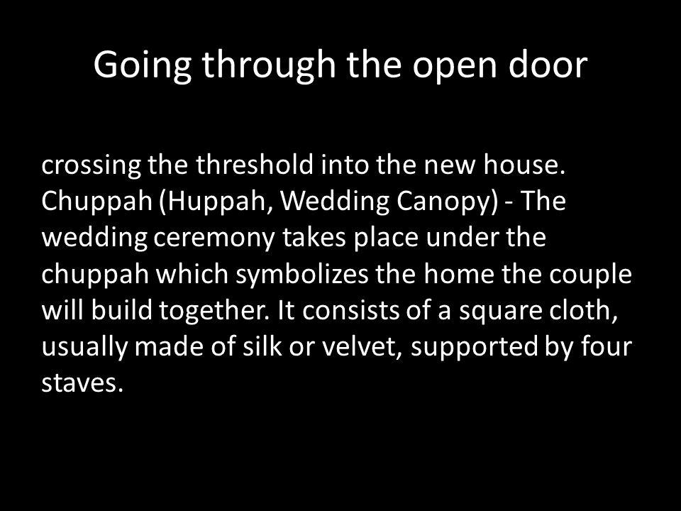 Going through the open door