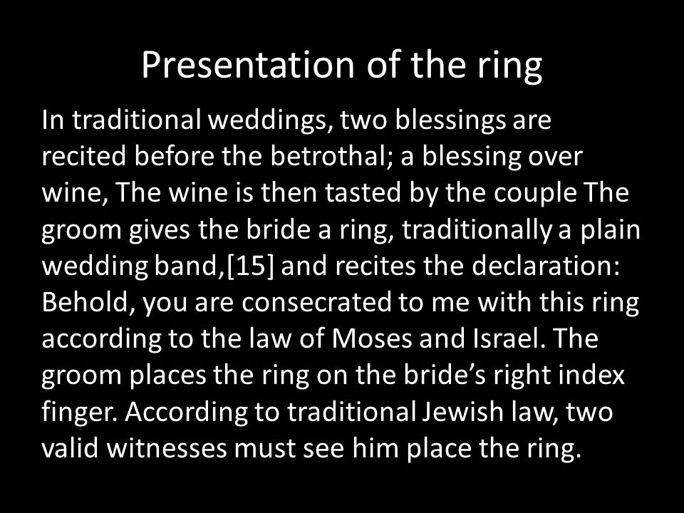 Presentation of the ring