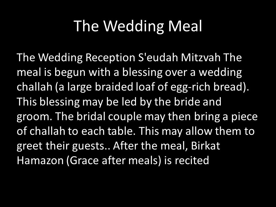 The Wedding Meal