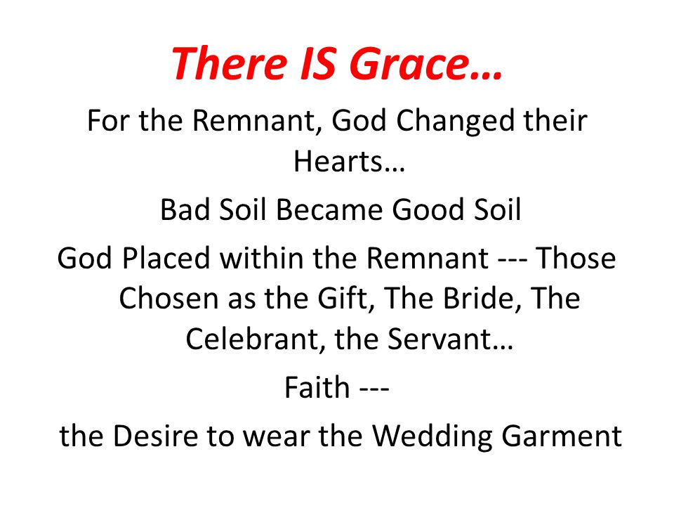There IS Grace…