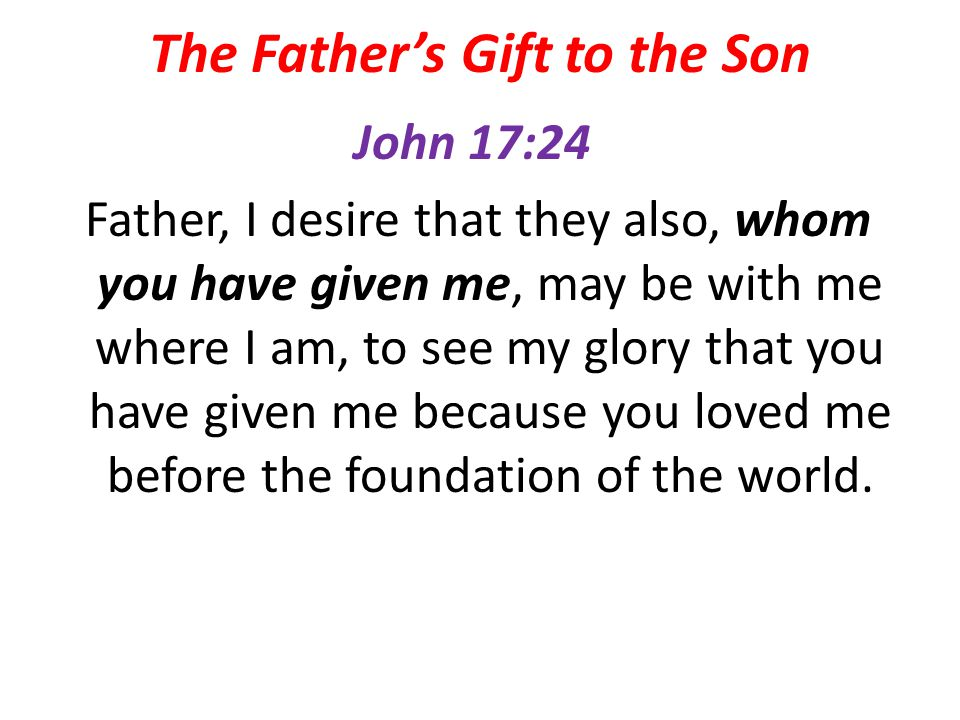The Father's Gift to the Son