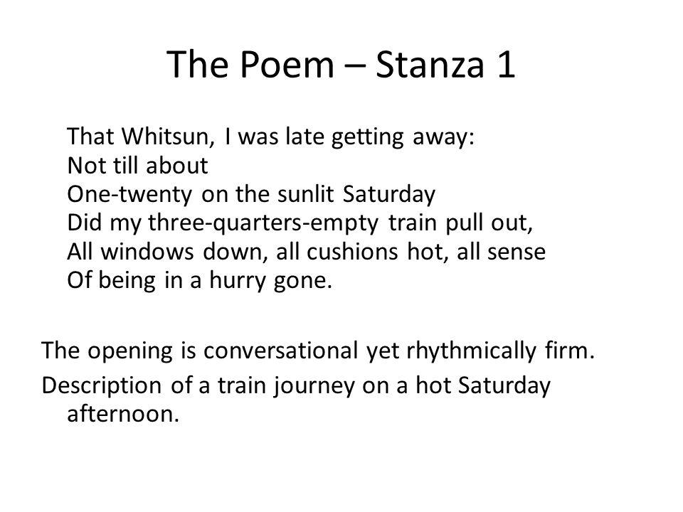The Poem – Stanza 1