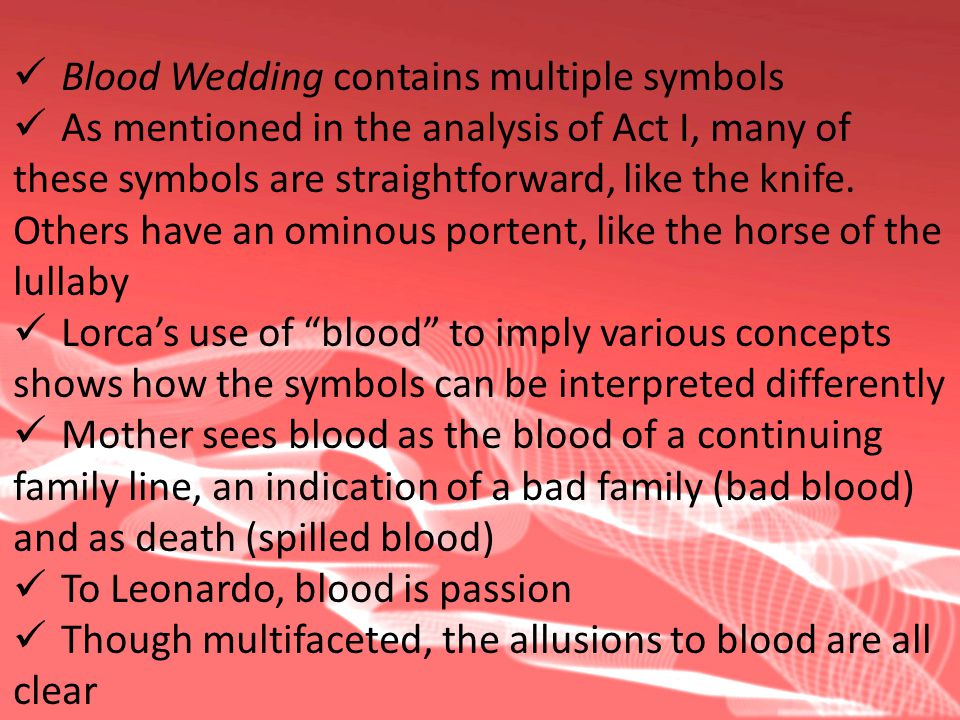Blood Wedding contains multiple symbols