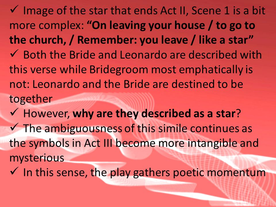 Image of the star that ends Act II, Scene 1 is a bit