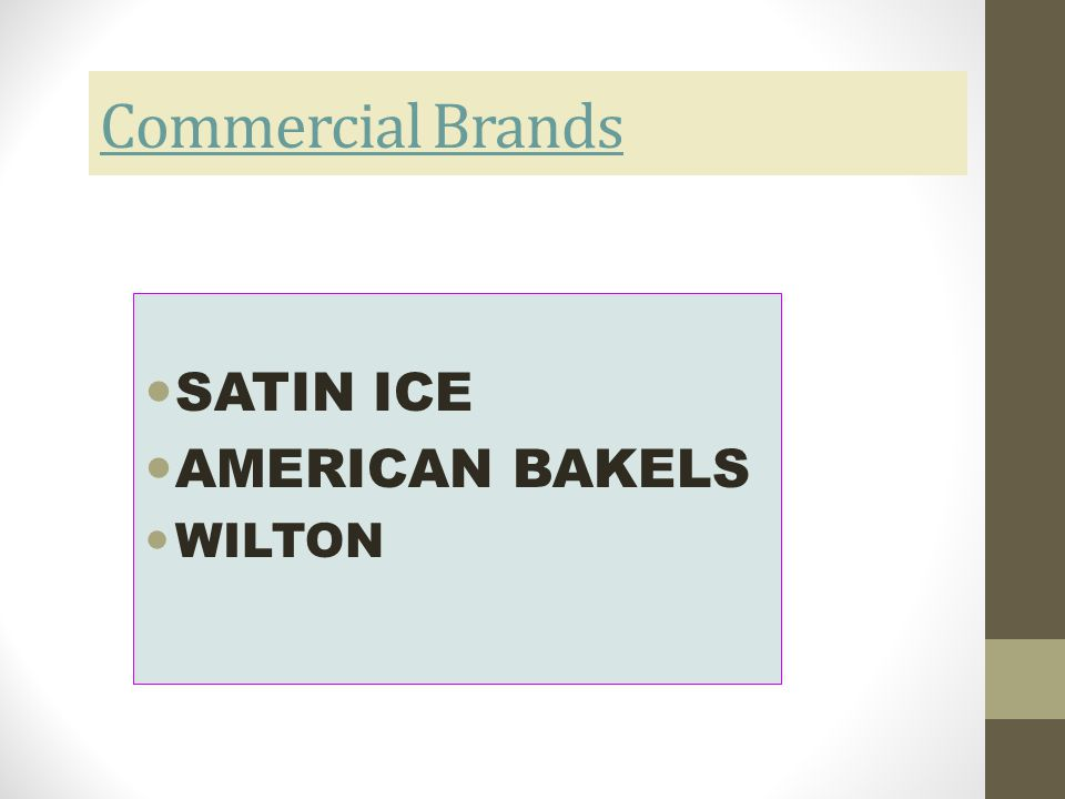Commercial Brands SATIN ICE AMERICAN BAKELS WILTON