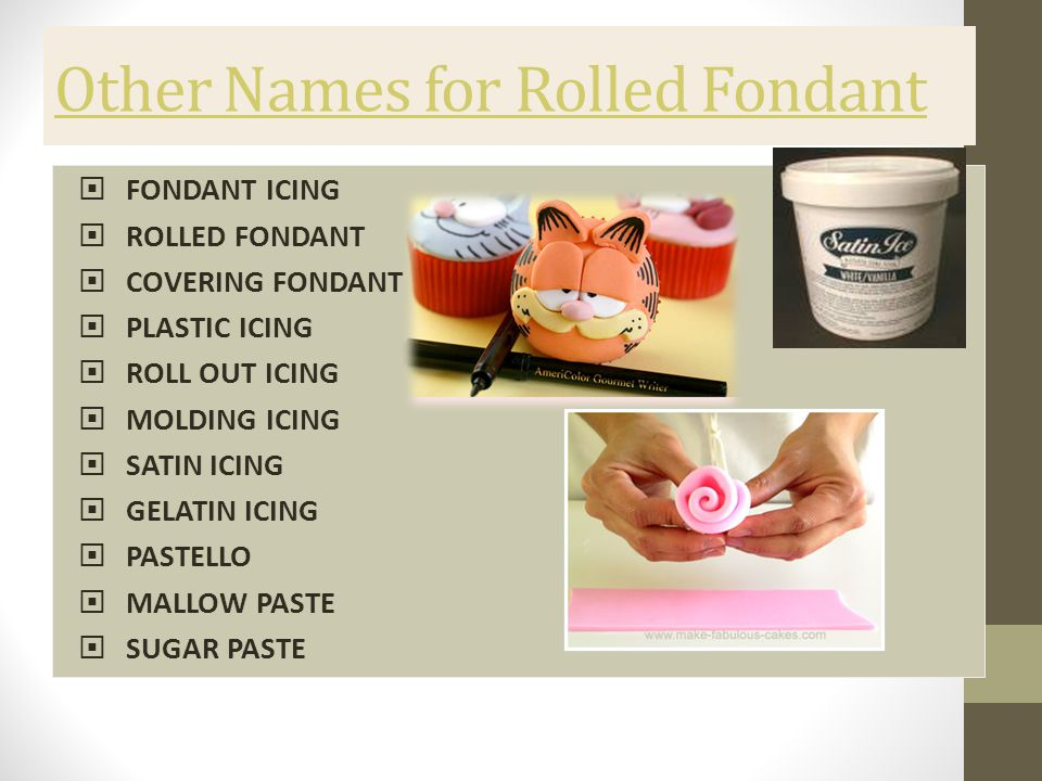 Other Names for Rolled Fondant