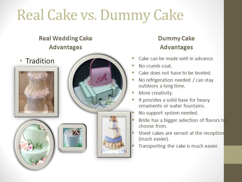 Real Cake vs. Dummy Cake Tradition Real Wedding Cake Advantages