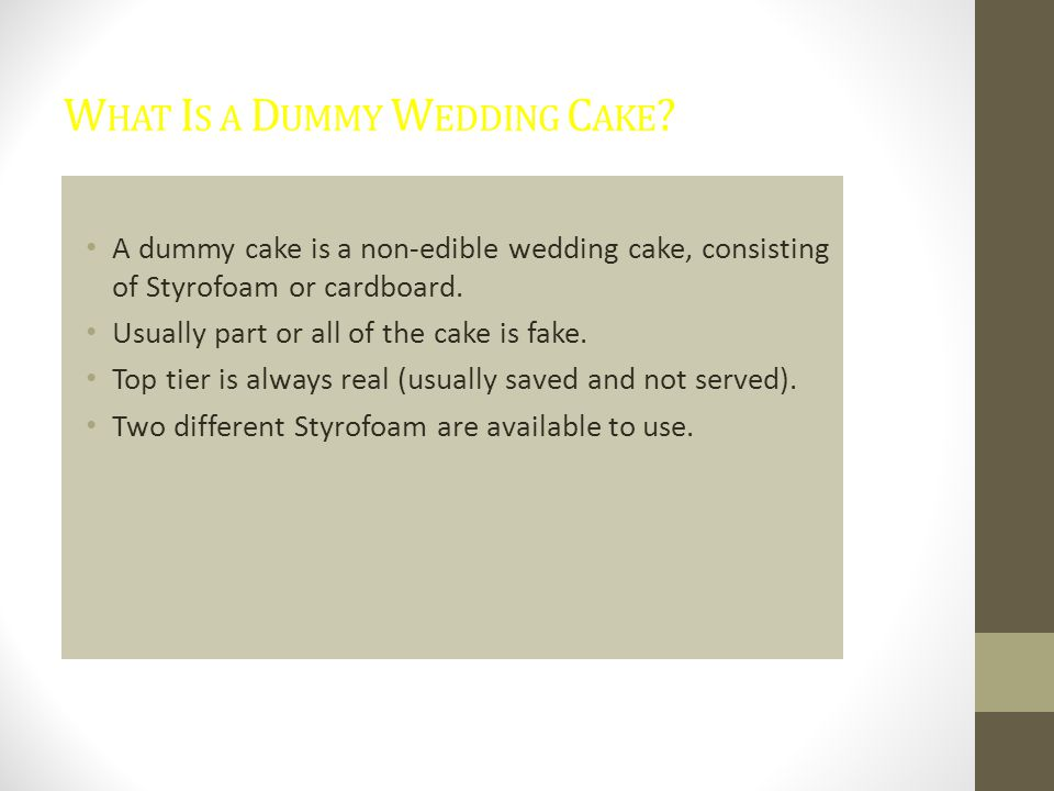 What Is a Dummy Wedding Cake