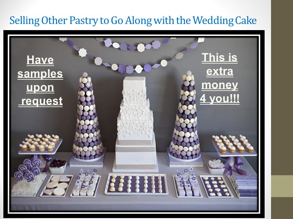 Selling Other Pastry to Go Along with the Wedding Cake